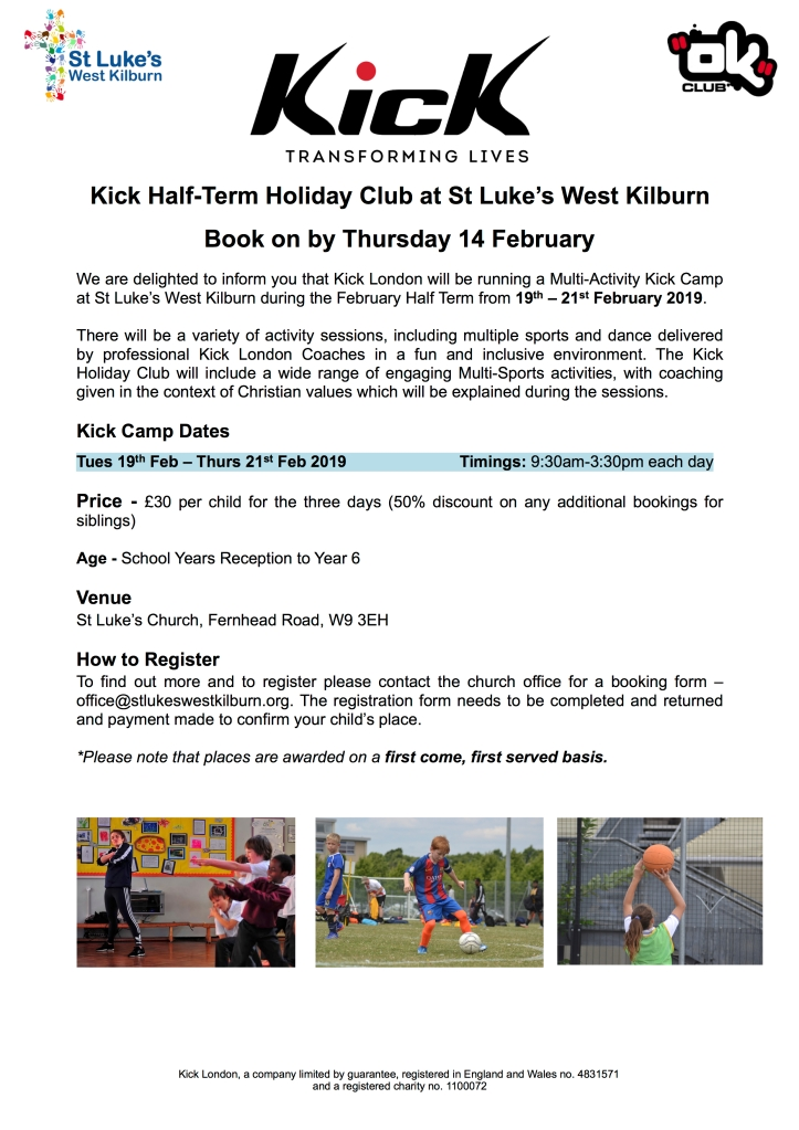 Kick Holiday Club Poster A4 copy